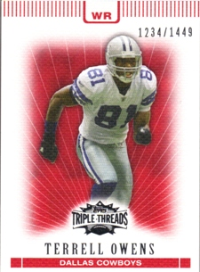 2007 Topps Triple Threads #57 Terrell Owens