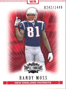 2007 Topps Triple Threads #61 Randy Moss