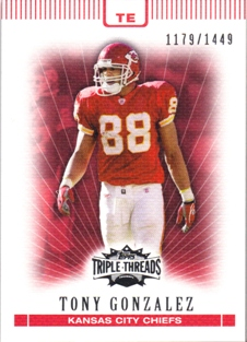 2007 Topps Triple Threads #75 Tony Gonzalez