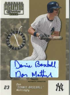 2003 Donruss Signature Notable Nicknames Autographs Decade #6 Don Mattingly