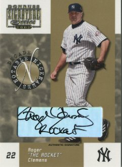 2003 Donruss Signature Notable Nicknames Autographs Decade #16 Roger Clemens