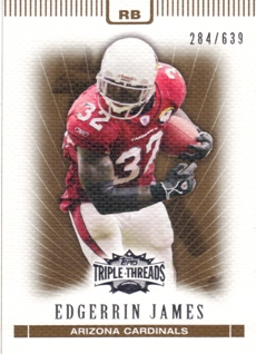 2007 Topps Triple Threads Sepia #42 Edgerrin James