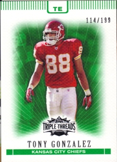 2007 Topps Triple Threads Emerald #75 Tony Gonzalez