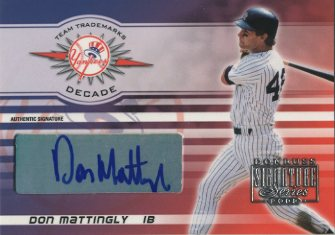 2003 Donruss Signature Team Trademarks Autographs Decade #8 Don Mattingly