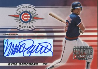 2003 Donruss Signature Team Trademarks Autographs Decade #29 Ryne Sandberg