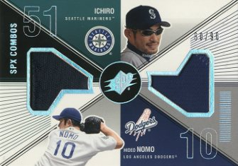 2003 SPx Game Used Combos #SN Ichiro Suzuki Patch/Hideo Nomo Patch/90
