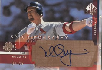 2003 SP Authentic Chirography Bronze #MM Mark McGwire/25