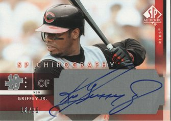 2003 SP Authentic Chirography Silver #GJ Ken Griffey Jr./25
