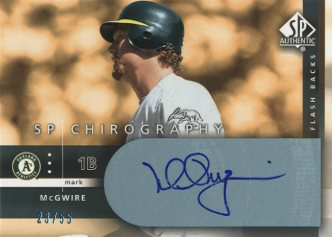 2003 SP Authentic Chirography Flashback #MA Mark McGwire/55