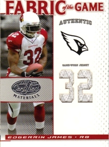 2007 Leaf Certified Materials Fabric of the Game Jersey Number #34 Edgerrin James/32