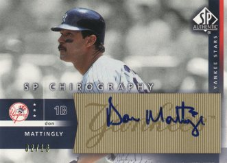 2003 SP Authentic Chirography Yankees Stars Gold #DM Don Mattingly