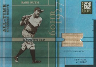 2003 Donruss Elite All-Time Career Best Materials #1 Babe Ruth Bat/25