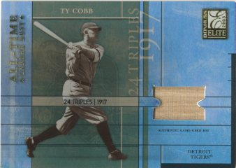 2003 Donruss Elite All-Time Career Best Materials #2 Ty Cobb Bat/25
