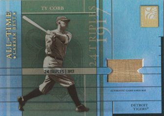 2003 Donruss Elite All-Time Career Best Materials Parallel #2 Ty Cobb Bat/24