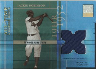 2003 Donruss Elite All-Time Career Best Materials Parallel #3 Jackie Robinson Jkt/19