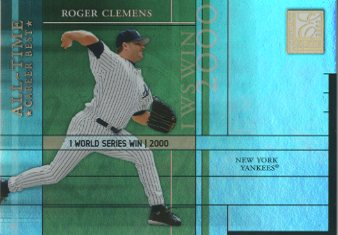 2003 Donruss Elite All-Time Career Best Parallel #43 Roger Clemens/1