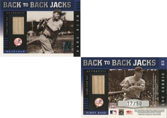 2003 Donruss Elite Back to Back Jacks #49 Babe Ruth/Lou Gehrig