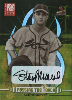 2003 Donruss Elite Passing the Torch Autographs #11 Stan Musial/Jim Edmonds
