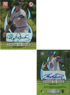 2003 Donruss Elite Passing the Torch Autographs #13 Roger Clemens/Mark Prior