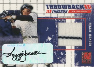 2003 Donruss Elite Throwback Threads Autographs #84 Reggie Jackson/25