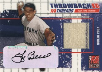 2003 Donruss Elite Throwback Threads Autographs #88 Yogi Berra/25