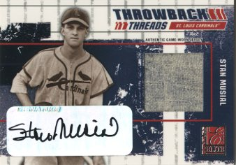 2003 Donruss Elite Throwback Threads Autographs #89 Stan Musial/25