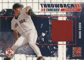 2003 Donruss Elite Throwback Threads Prime #35 Hideo Nomo Red Sox