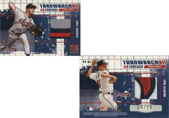 2003 Donruss Elite Throwback Threads Prime #61 Greg Maddux/Tom Glavine