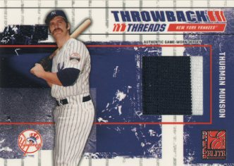 2003 Donruss Elite Throwback Threads Prime #80 Thurman Munson