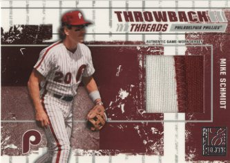 2003 Donruss Elite Throwback Threads Prime #83 Mike Schmidt