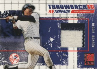 2003 Donruss Elite Throwback Threads Prime #84 Reggie Jackson