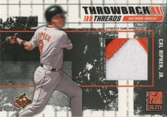 2003 Donruss Elite Throwback Threads Prime #86 Cal Ripken