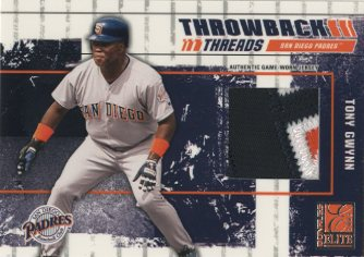 2003 Donruss Elite Throwback Threads Prime #87 Tony Gwynn