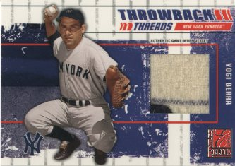 2003 Donruss Elite Throwback Threads Prime #88 Yogi Berra