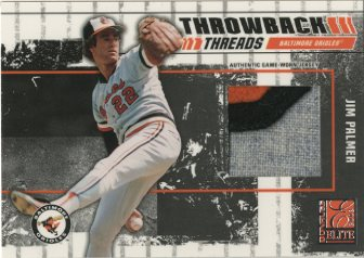 2003 Donruss Elite Throwback Threads Prime #90 Jim Palmer