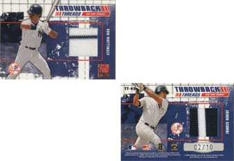 2003 Donruss Elite Throwback Threads Prime #93 Don Mattingly/Jason Giambi