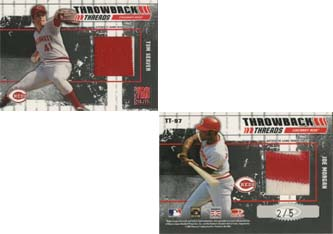 2003 Donruss Elite Throwback Threads Prime #97 Tom Seaver/Joe Morgan