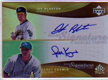 2005 Reflections Dual Signatures #JBSK Joe Blanton/Scott Kazmir T3
