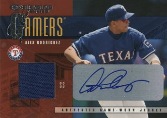 2003 Donruss Gamers Autographs #2 Alex Rodriguez/5