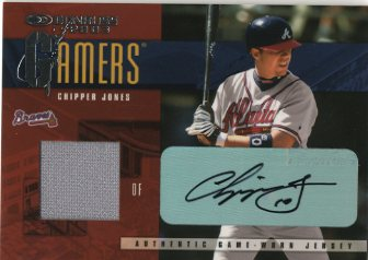 2003 Donruss Gamers Autographs #10 Chipper Jones/10
