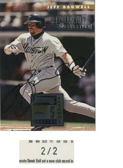 2003 Donruss Recollection Autographs #10 Jeff Bagwell 96/2