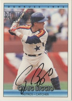 2003 Donruss Recollection Autographs #21 Craig Biggio 92/1