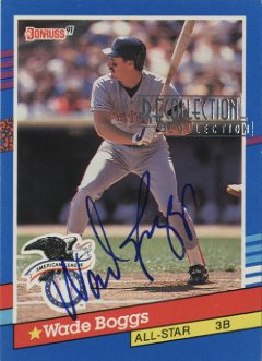 2003 Donruss Recollection Autographs #29 Wade Boggs 91 AS/4