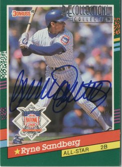 2003 Donruss Recollection Autographs #239 Ryne Sandberg 91 AS/3