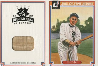 2003 Diamond Kings HOF Heroes Reprints Materials #9 Ty Cobb Bat