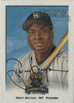 2003 Diamond Kings Recollection Autographs #34 Tony Gwynn 02 DK/9