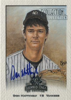 2003 Diamond Kings Recollection Autographs #48 Don Mattingly 02 DK/13