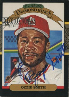 2003 Diamond Kings Recollection Autographs #71 Ozzie Smith 87 DK/1
