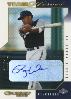 2003 Donruss Team Heroes Autographs #541 Rickie Weeks/10