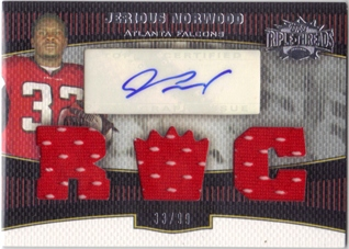2006 Topps Triple Threads #109 Jerious Norwood JSY AU RC